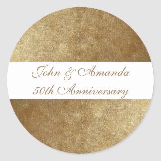 Gold Blends Personalized 50th Anniversary Stickers