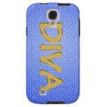 gold bling DIVA Galaxy S4 Case