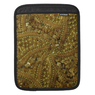 Gold bling glitter pearls iPad sleeves