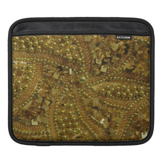 Gold bling glitter & pearls iPad sleeves