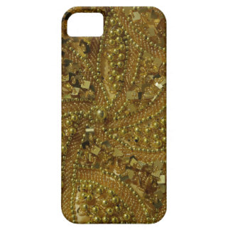Gold bling glitter & pearls iPhone SE/5/5s case