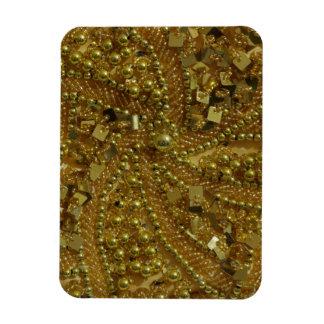 Gold bling glitter & pearls magnet
