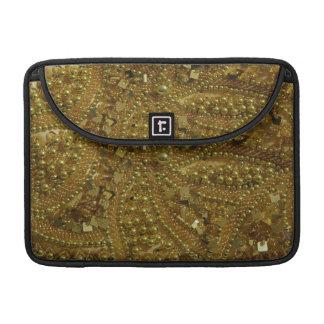 Gold bling glitter & pearls sleeves for MacBooks