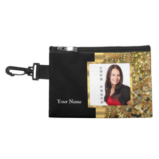 Gold bling instagram templates accessory bag