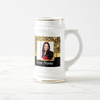Gold bling instagram templates beer stein
