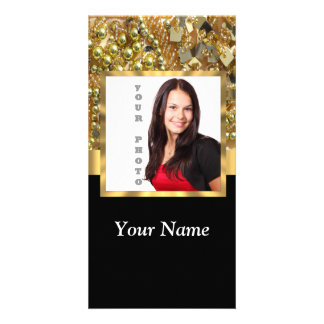 Gold bling instagram templates card