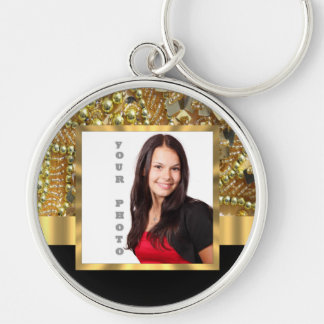 Gold bling instagram templates keychain