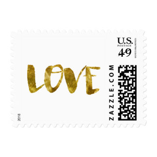 Gold Bling Love Postage