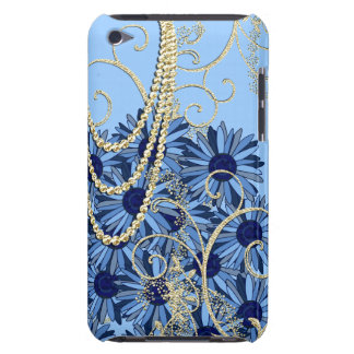 Gold Blue and Navy Swirl iTouch Case