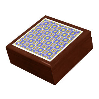 Gold, Blue and White 2D Gift Box