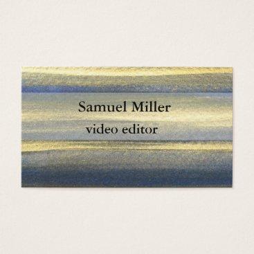 Professional Business Gold Blue Artistic Original  Editor Business Card