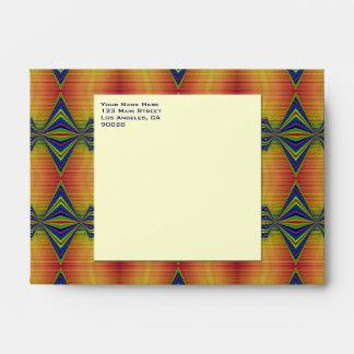 gold blue fancy envelopes