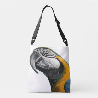 Gold Blue Macaw Exotic Bird Parrot Animal Bag