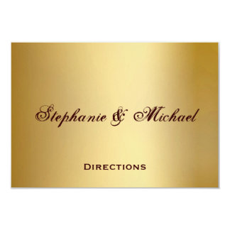Gold Blue Ocean Wedding Directions Card