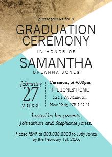 geometric graduation invitations zazzle