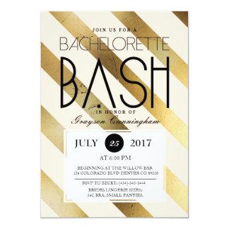 Gold & Blush Bachelorette Bash | Party Invite