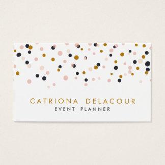 Gold & Blush Confetti Dots Business Card