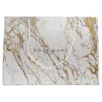 Gold Blush Marble Metallic Gift Gray Silver VIP Large Gift Bag