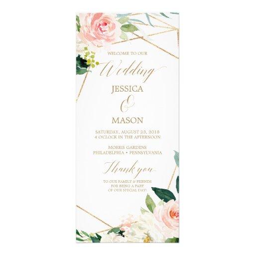Gold Blush Wedding Program - Ceremony Program