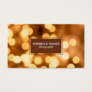 Gold Bokeh Business Card