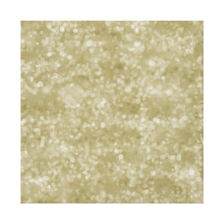 Gold Bokeh Canvas Print