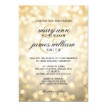Gold Bokeh Lights Elegant Wedding Card at Zazzle