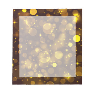 Gold Bokeh Notepad