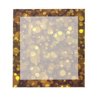 Gold Bokeh Note Pads