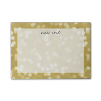Gold Bokeh Pattern Personalized Post-it® Notes