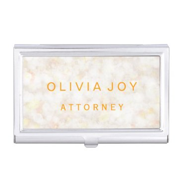 Professional Business Gold Bokeh Personalized Business Card Holder