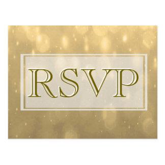 Gold Bokeh   RSVP Postcard