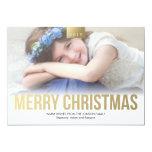Gold Bold Merry Christmas Custom Photo Card