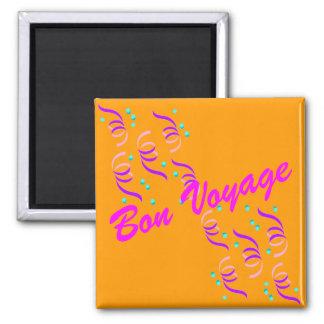 Gold Bon Voyage G1M 2 Inch Square Magnet