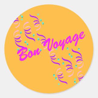 Gold Bon Voyage G3S Classic Round Sticker
