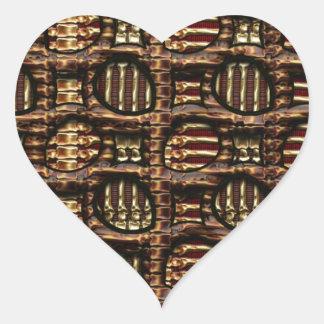 Gold Bones Heart Sticker