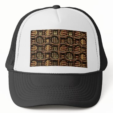 Halloween Themed Gold Bones Trucker Hat