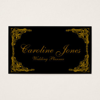 Gold Border Business Card