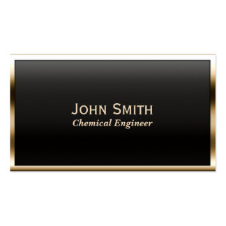 Gold Border Chemical Engineer Business Card