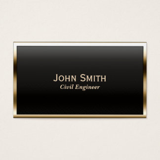 Gold Border Civil Engineer Business Card