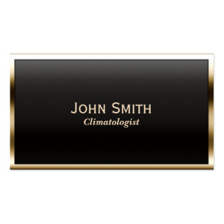 Gold Border Climatologist Business Card