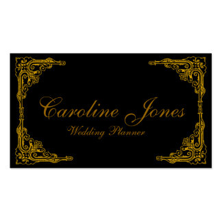Gold Border Double-Sided Standard Business Cards (Pack Of 100)