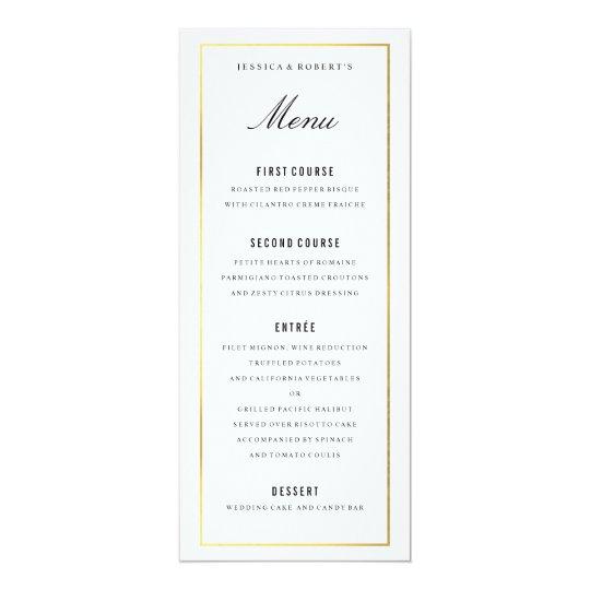Gold border elegant wedding menu card zazzle gold border elegant wedding menu card junglespirit Gallery