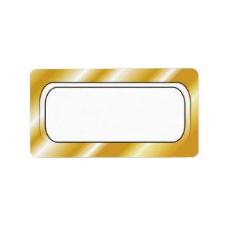 Gold Border Frame Blank Address Labels