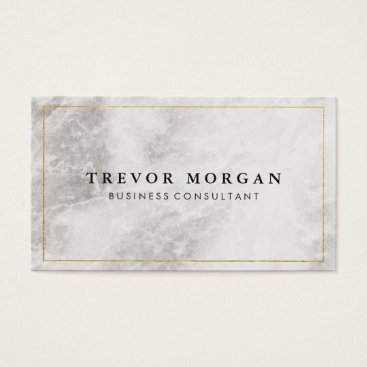 Gold Border Marble Business Card