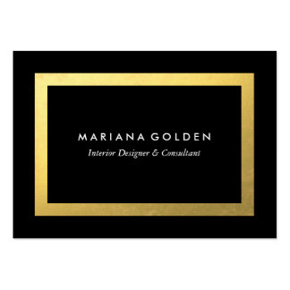 Gold Border on Chubby Business Card Template Pack Of Chubby Business Cards