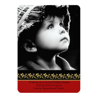 Gold Border Photo Holiday Card