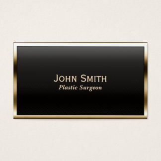 Gold Border Plastic Surgeon Business Card