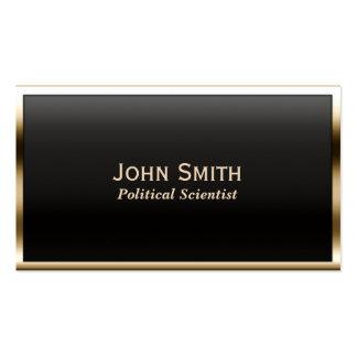 Gold Border Political Scientist Business Card