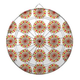 Gold Border SUNFLOWER Chakra Mandala Dart Boards