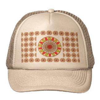 Gold Border SUNFLOWER Chakra Mandala Trucker Hat